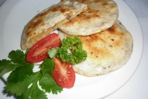 gluten free_vegan parathas with potato filling